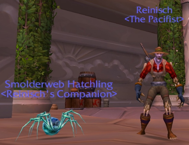 Reinisch and smolderweb hatchling